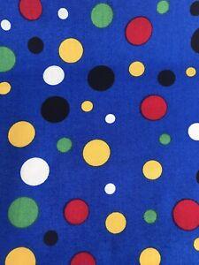 1/2 Metre Multi Spot Design 100% Cotton Fabric