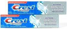 2 Crest Complete 7.6 Oz Whitening Baking Soda & Peroxide Sugar Shield Fresh Mint