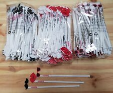 30 x Summer Cocktail Stirrers 10 x Lips, 10x Moustache and 10 x Sunglasses new