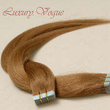 40Pcs Seamless Tape-in Extensions 100% Human Hair Remy A+ #10 (Med-light Brown)