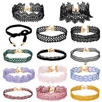 Vintage Gothic Black Lace Flower Choker Collar Necklace Retro Punk Women Jewelry