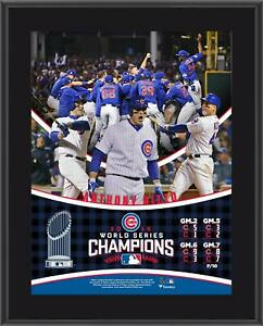 """Anthony Rizzo Chicago Cubs 2016 MLB World Series Champs 10.5"""" x 13"""" Plaque"""