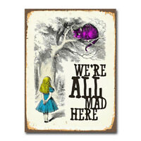 A0 A1 Quality Satin Paper Alice in Wonderland Poster A2 Mad Hatter MHP01