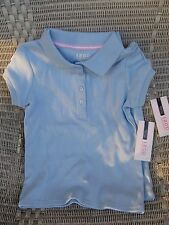IZOD APPROVED SCHOOLWEAR GIRLS SHORT SLEEVE POLO  Lt Blue, Size: XS (4/5) NWT