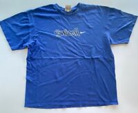 Nike Mens Graphic T-Shirt Blue Swoosh Crew Neck Tee XL