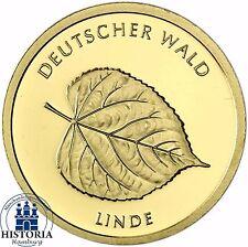 """Deutschland 20 Euro Gold """" Linde """" Deutscher Wald 2015 Münze Stempelglanz Mzz D"""