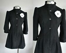NEW handmade OOAK 1940's replica Steampunk coat w/white flower brooch | Medium