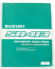 Suzuki SA413 Oct 1985 factory workshop manual supplement catalytic converter