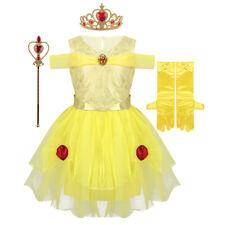 Girls Princess Fancy Dress Fairy Tale Cosplay Costumes Child Halloween Dress Up