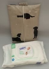 Baby Wipes holder, Wipes case, Wet Wipes Pouch in Labrador Oilcloth