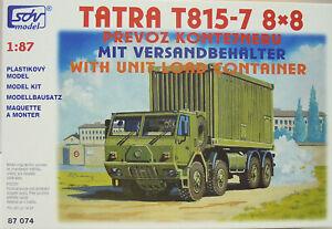 Tatra T-815-7 Container 8x8, Flatbed, Ho, 1/87, SDV, Plastic Kit, New
