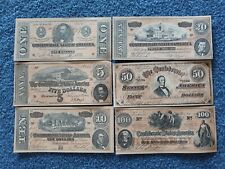 Lot Of Six Facsimile Confederate Notes