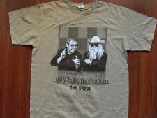 Elton John Leon Russell 2010 The Union concert tour men's L tan T-shirt NEW