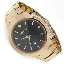 Luxus Tungsten Wolfram Herren Armband Uhr Datum Zirkonia Diamant Bk Rose Germany