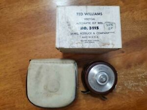Vintage Ted Williams 470 Automatic Fly Fishing Reel with Box No. 3115 Sears
