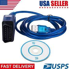 Auto Car Diagnostic Scanner Tool ProTocol VAG COM KKL 409.1 OBD2 USB Cable Line