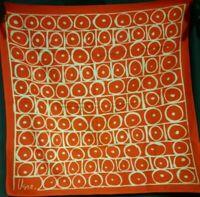 Vintage 1970's Cotton Vera Neumann Scarf w/ Cellular Hive (22 x 22)