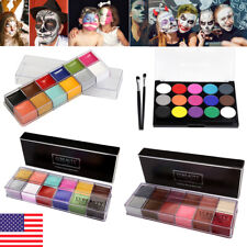 12/15 Colors Face Body Paint Oil Painting Art Make Up Tool Halloween Party Kit