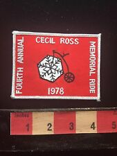 Vtg 1978 Snowflake Wheel Penny Farthing Bicycle Patch Cecil Ross Memorial 71O
