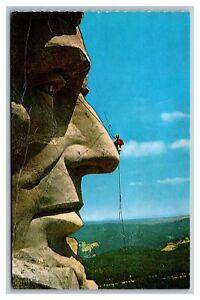 Black Hills, SD South Dakota, Mt. Rushmore, View of Maintenance, Postcard