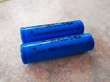 2x 8800mAh Akku X-Balog Li-ion Accu 3,7 V Batterie 18650 / 65x18 mm SWAT PCB
