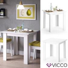 VICCO Esstisch KARLOS Esszimmertisch 80cm Weiß Wohnzimmer Küchentisch Tisch