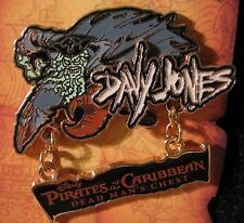 Disney Pirate Caribbean Davy Jones Movie Title Pin NEW