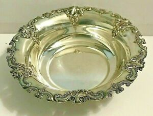 WALLACE STERLING Silver GRANDE BAROQUE Round Candy Dish Bowl 120g
