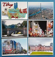 Collection of 6 New Glossy TOKYO Japan Postcards by Cavalier 54O