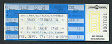 1985 Bruce Springsteen unused concert ticket Los Angeles Born In The USA 9/27