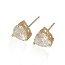 FIN003-Sweet Love Yellow Stud Gold Plated Hypoallergenic Cubic Zirconia Earring