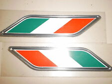 Fiat stick on fender emblem badge name plate Mexican or Italian flag 82212879