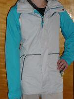 Burton Prowess Jacket Womens Snowboard Ski 10k Waterproof Shell S Gray Blue $220