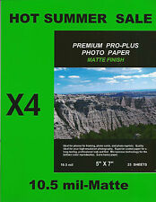 Premium Pro-Plus Matte~5 x7 Photo Paper~100ct~HARD~TO~FIND~SIZE~IN~A~HEAVY~MATTE
