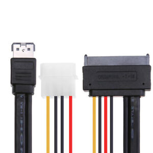 "Jimier  EsataP Power ESATA Combo to SATA 22pin 5V 12V for 3.5"" 2.5"" Disk Cable"