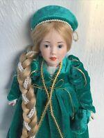 Vintage Porcelain Rapunzel Storybook Doll From the Danbury Mint