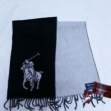 VTG Polo Ralph Lauren Scarf Winter NWT Big Pony Italy Lambswool 90s Equestrian