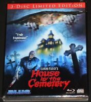 LUCIO FULCI'S HOUSE BY THE CEMETERY usa blu-ray NEW SEALED limited 3-D slipcover