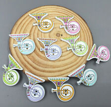 DIY 20X Wooden Musical Instruments Buttons Scrapbooking Sewing 2-holes 25mm