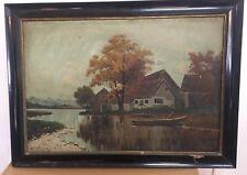 W. Zeidler (Münchner Maler) Herbstlandschaft Ammersee (A594)