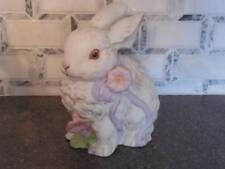 """Enesco Bunny Rabbit Pocelain/Ceramic 6"""" Tall 1988"""