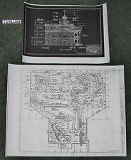 2- Disneyland HAUNTED HOUSE Disney Blue Prints!! Inside & Out Copies!