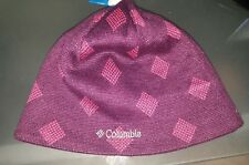 Nwt Columbia Women's Urbanization Mix Beanie, Purple Dahlia Diamond, One Size