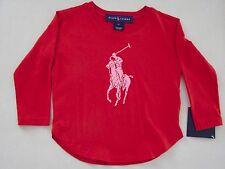 Ralph Lauren Girls Long Sleeve Big Pony Top T-Shirt 2/2T New