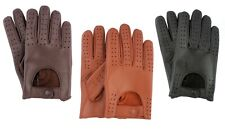 Mens Classic Driving Gloves Soft Genuine Real Lambskin Leather Vintage Fashion