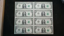 2 FOUR NOTE SHEETS 2001 & 2003 One Dollar Federal Reserve Notes BUY IT NOW!