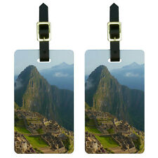 Machu Picchu Inca City Ruins in Cusco Peru Luggage Suitcase ID Tags Set of 2
