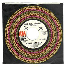 David Garrick 1966 A&M 45rpm Dear Mrs. Applebee b/w You're What I'm Livin' For