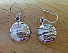 Sterling Silver 16mm Basketball Ball on 15mm wire Earrings