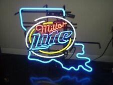 "Miller Lite Louisiana State Neon Light Sign 24""x20"" Beer Bar Decor Lamp Glass"